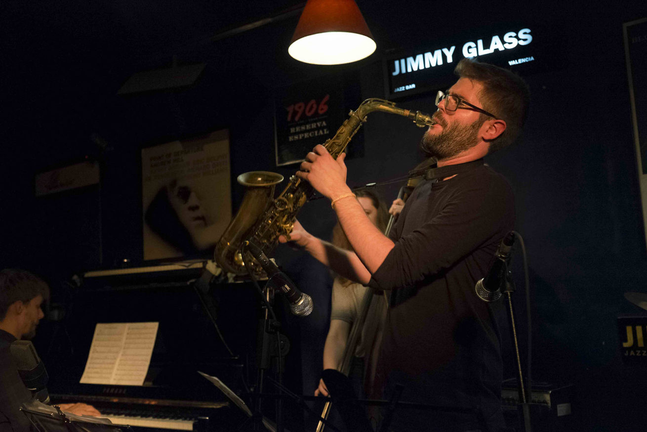 Grabación del disco Víctor Jiménez & Friends 2 en el Jimmy Glass Jazz Bar. Otoño de 2017